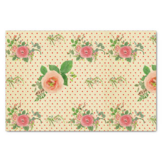 Grunge,rustic,vintage,floral,coral,victorian,girly Tissue Paper