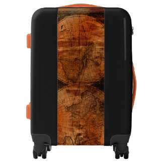 Grunge Rustic Vintage Old World Map Luggage