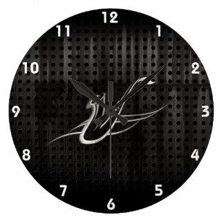 Grunge Saxophone Large Clock