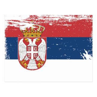 Grunge Serbia Flag Postcard