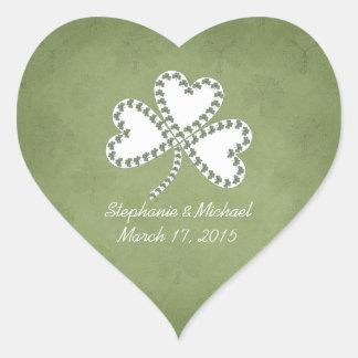 Grunge Shamrocks Irish Wedding Stickers