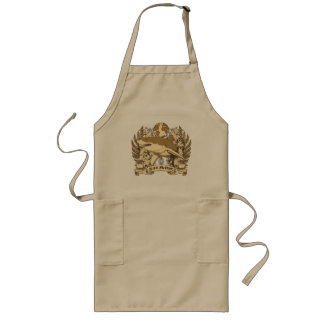 Grunge Shark Long Apron
