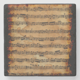 Grunge Sheet Music Music-lover's Stone Coaster