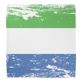 Grunge Sierra Leone Flag Bandana