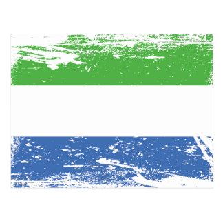 Grunge Sierra Leone Flag Postcard