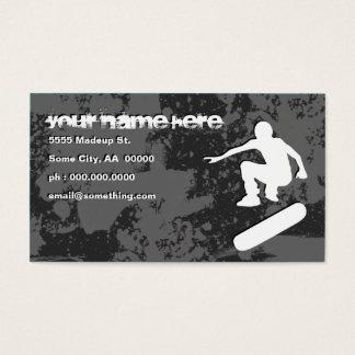 grunge skateboarding business card