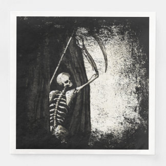 Grunge skeleton Napkins Disposable Serviettes