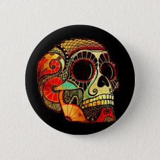 Grunge Skull 6 Cm Round Badge
