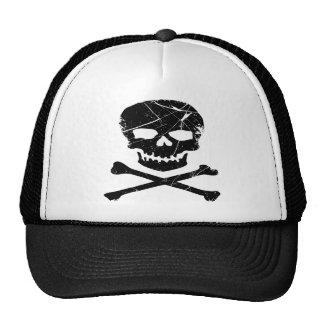Grunge Skull and Cross Bones Tattoo Trucker Hats