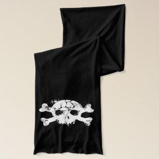 Grunge Skull and Crossbones Scarf