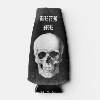 Grunge Skull Bottle Cooler