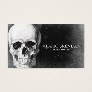 Grunge Skull Business Card