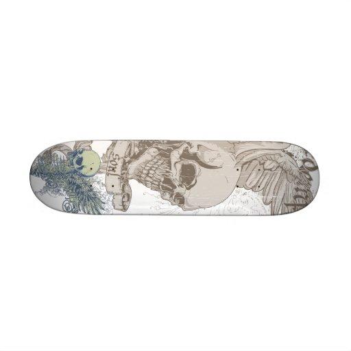 Grunge Skull Deck Skateboard