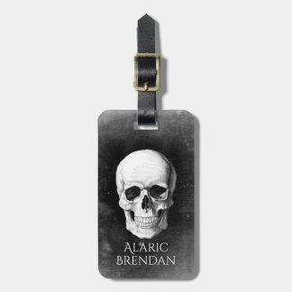 Grunge Skull Luggage Tag