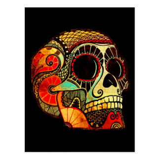 Grunge Skull Post Cards