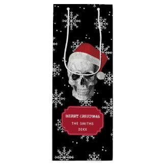 Grunge Skull Santa Wine Gift Bag
