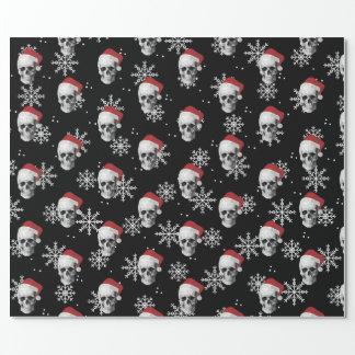 Grunge Skull Santa Wrapping Paper