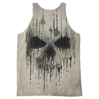 Grunge Skull Unisex Tank All-Over Print Tank Top