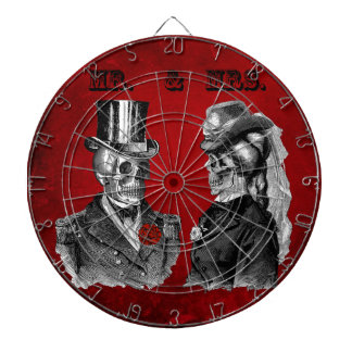 Grunge Skull Wedding & Anniversary Party Dartboard