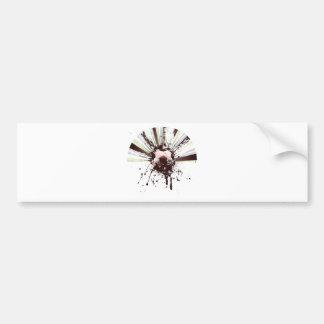 Grunge Soccer Bumper Sticker