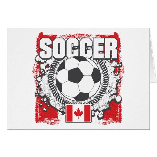 Grunge Soccer Canada Card