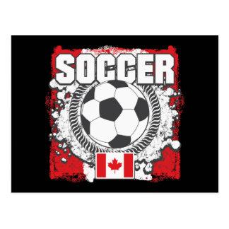 Grunge Soccer Canada Postcard