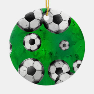 Grunge Soccer Christmas Ornament