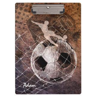 Grunge Soccer - Men Clipboards