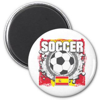 Grunge Soccer Spain Magnet