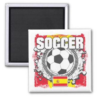 Grunge Soccer Spain Fridge Magnets