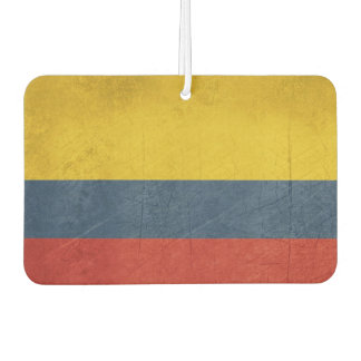 Grunge sovereign state flag of country of car air freshener