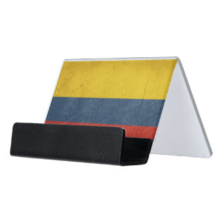 Grunge sovereign state flag of country of desk business card holder
