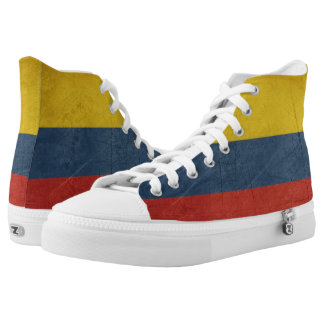 Grunge sovereign state flag of country of high tops