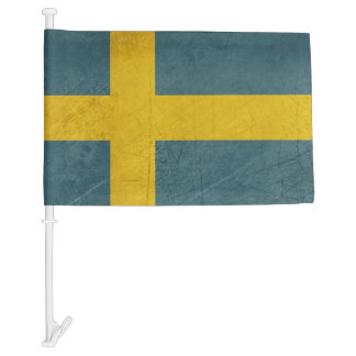 Grunge sovereign state flag of country of Sweden