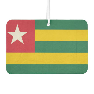 Grunge sovereign state flag of country of Togo Car Air Freshener