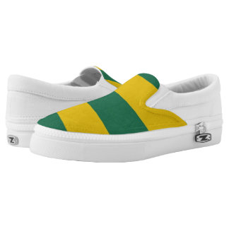 Grunge sovereign state flag of country of Togo Slip-On Shoes