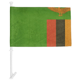 Grunge sovereign state flag of country of Zambia