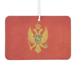 Grunge sovereign state flag of Montenegro Car Air Freshener