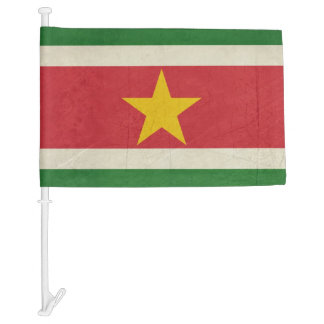 Grunge sovereign state flag of Suriname