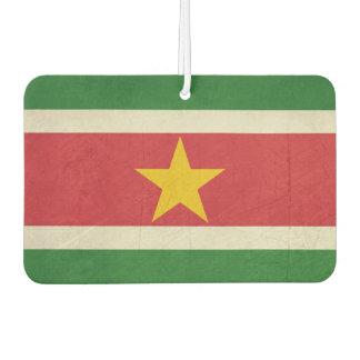 Grunge sovereign state flag of Suriname Car Air Freshener