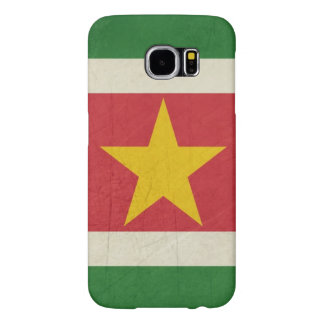 Grunge sovereign state flag of Suriname Samsung Galaxy S6 Cases