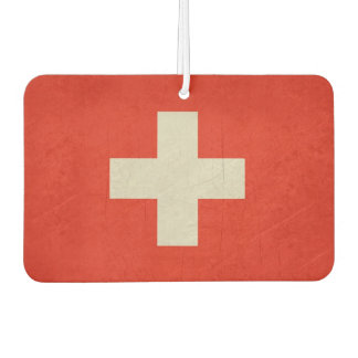Grunge sovereign state flag of Switzerland Car Air Freshener