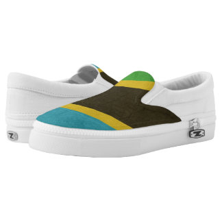 Grunge Sovereign state flag of Tanzania Slip On Shoes