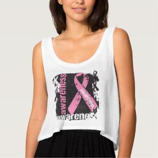 Grunge Splatter Breast Cancer Awareness Tank Top