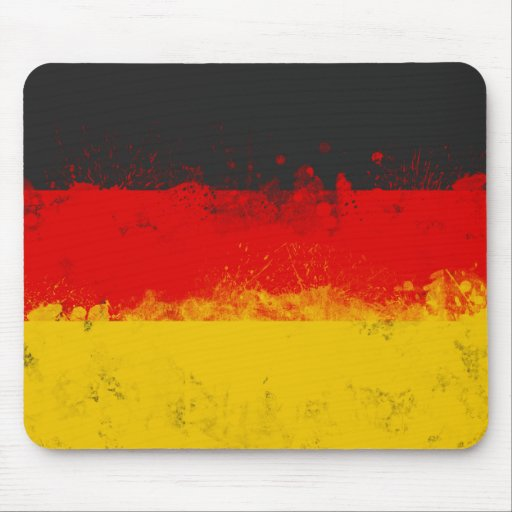Grunge Splatter Painted Flag of Germany Mousepads
