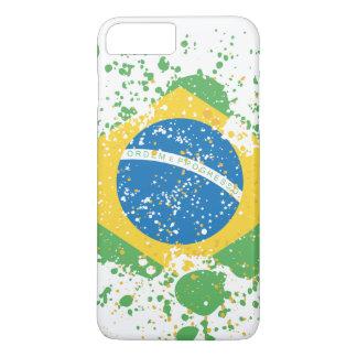 Grunge sprayed Brazil Flag iPhone 7 Plus Case