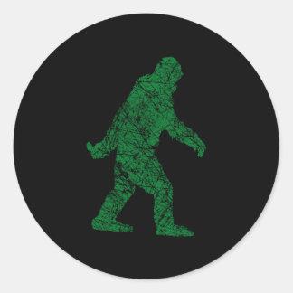 Grunge Squatchin Classic Round Sticker