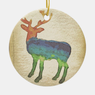 Grunge Stag Christmas Ornament