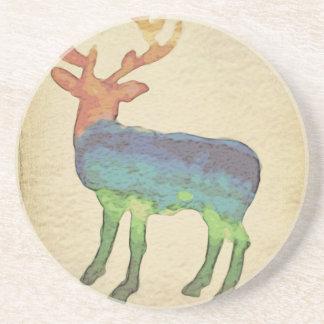 Grunge Stag Coaster