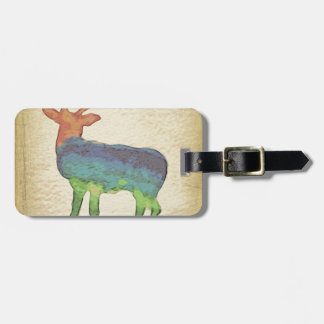Grunge Stag Luggage Tag
